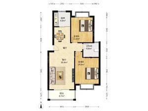 金竹园 2室2厅1卫