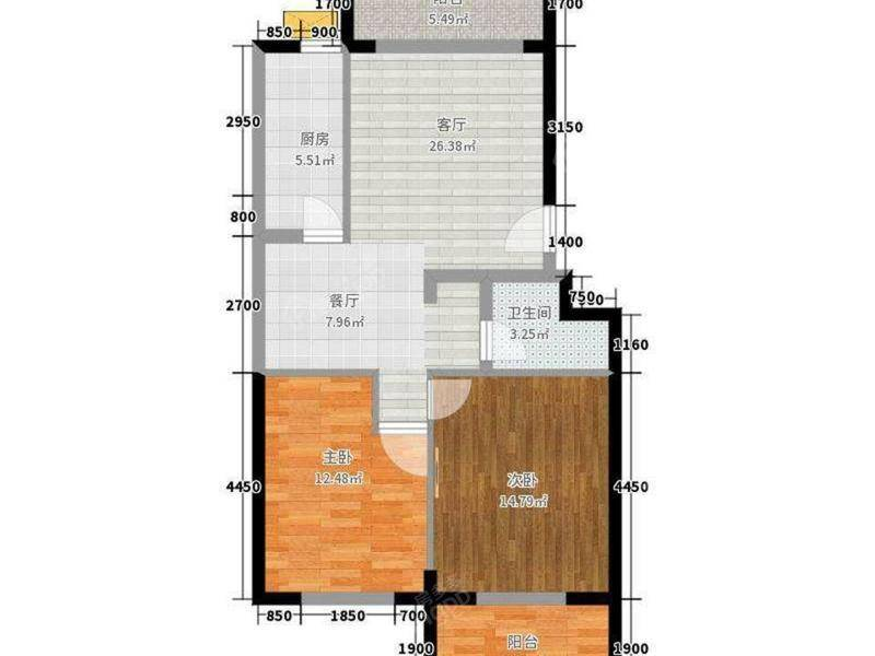 鸿福二村 3居 户型图