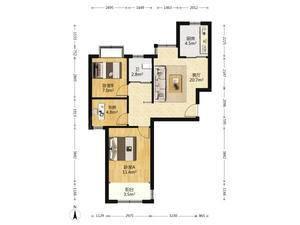 中原城市方园 3室1厅1卫