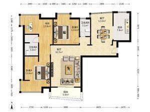 淡水湾花园 3室2厅2卫