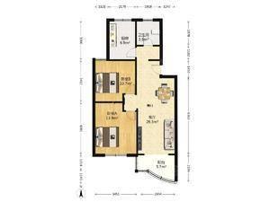 新金山花园 2室2厅1卫