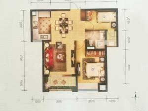 会展中心旁海屿城精装两房带家具出售,户型好,证在手,