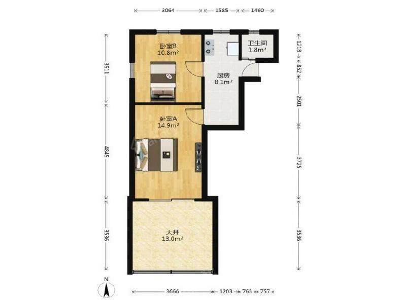 一楼+天井 南北边套全明 精致装修 可拎包入住 满五年唯一