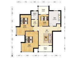 三湘海尚城(公寓) 3室2厅1卫