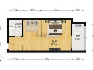升龙国际中心A区 1室1卫