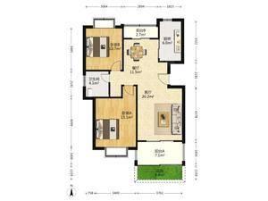 金丰蓝庭 2室2厅1卫