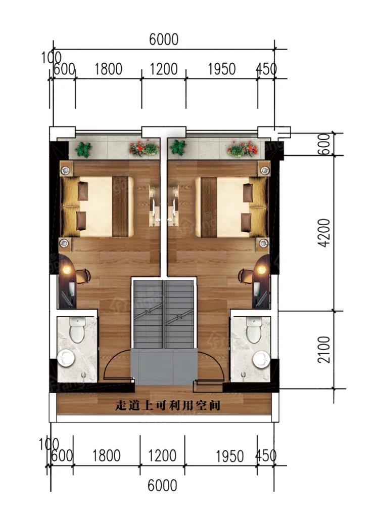 凉都名郡3室2厅3卫户型图
