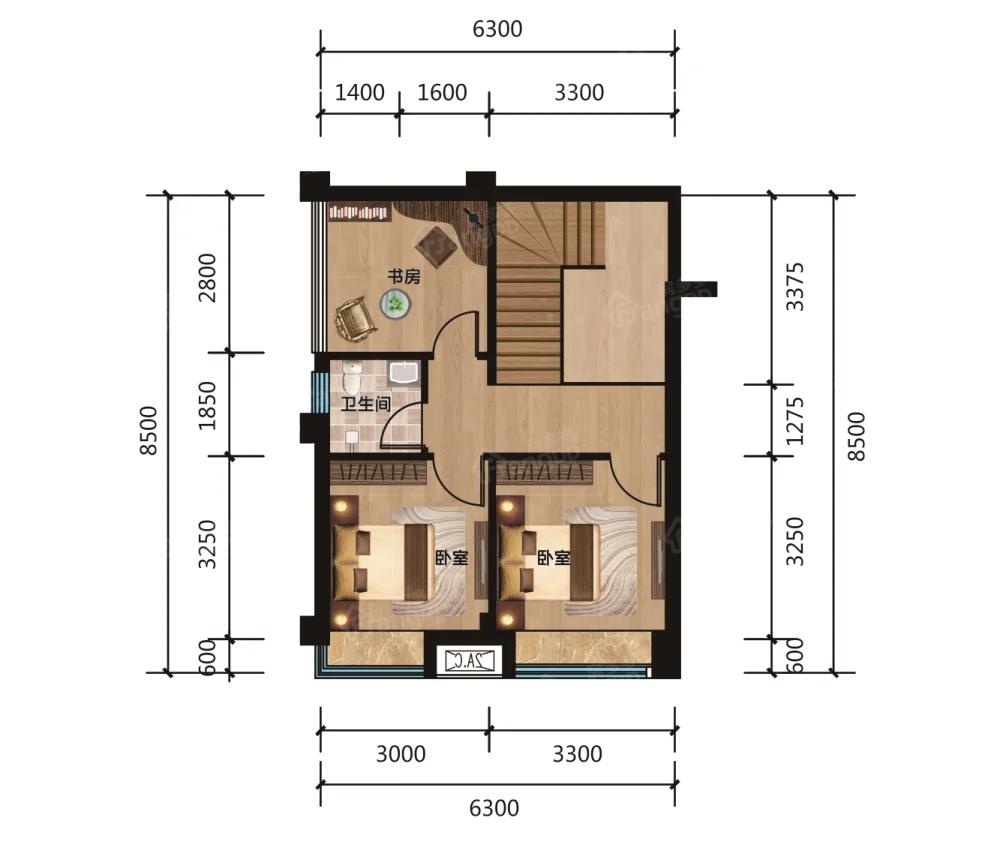 国泰熙园4室2厅2卫户型图