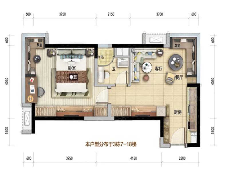 碧桂园国际商业中心户型图