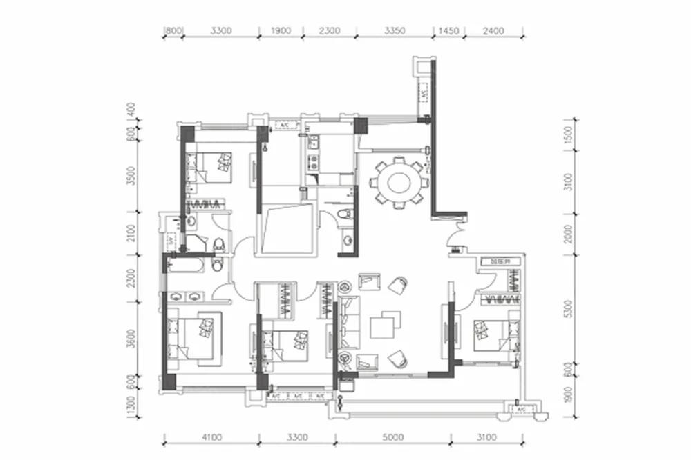 凯东·港龙城5室2厅3卫户型图