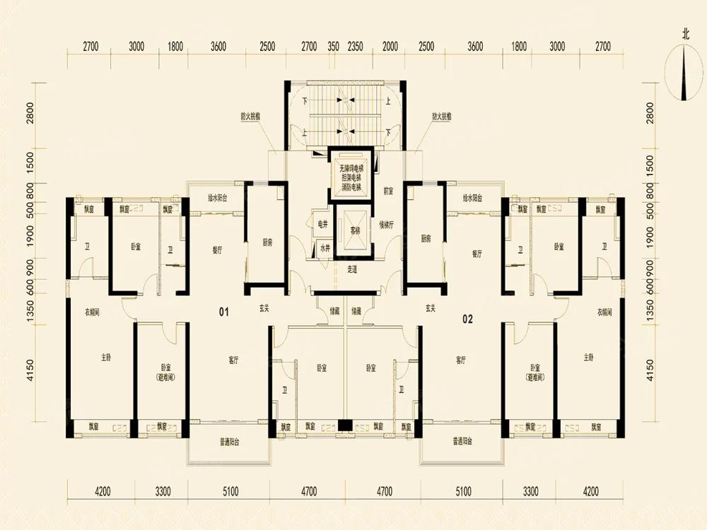 碣石半岛碧桂园4室2厅3卫户型图