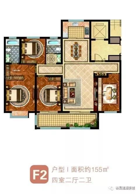 裕昌·莲湖新城4室2厅2卫户型图