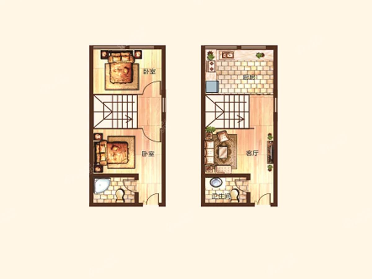 淇水佳园2室2厅2卫户型图