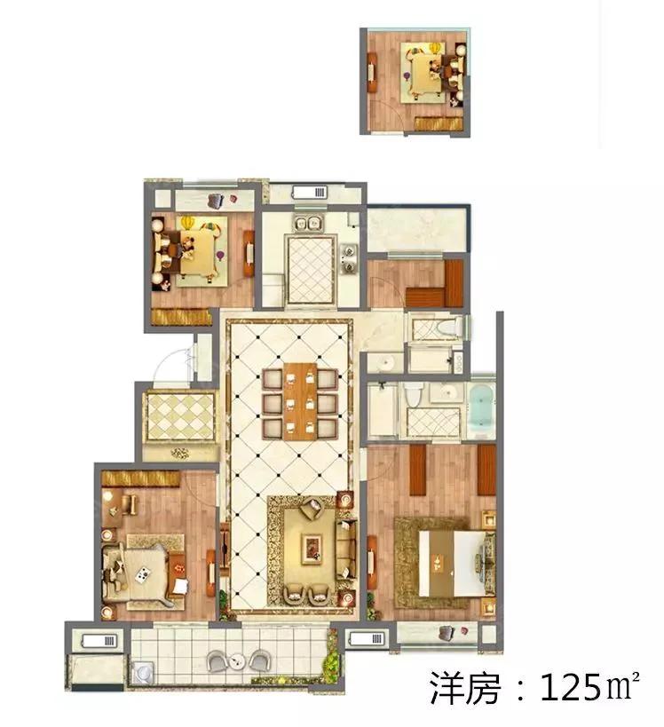 中南新悦府4室2厅2卫户型图