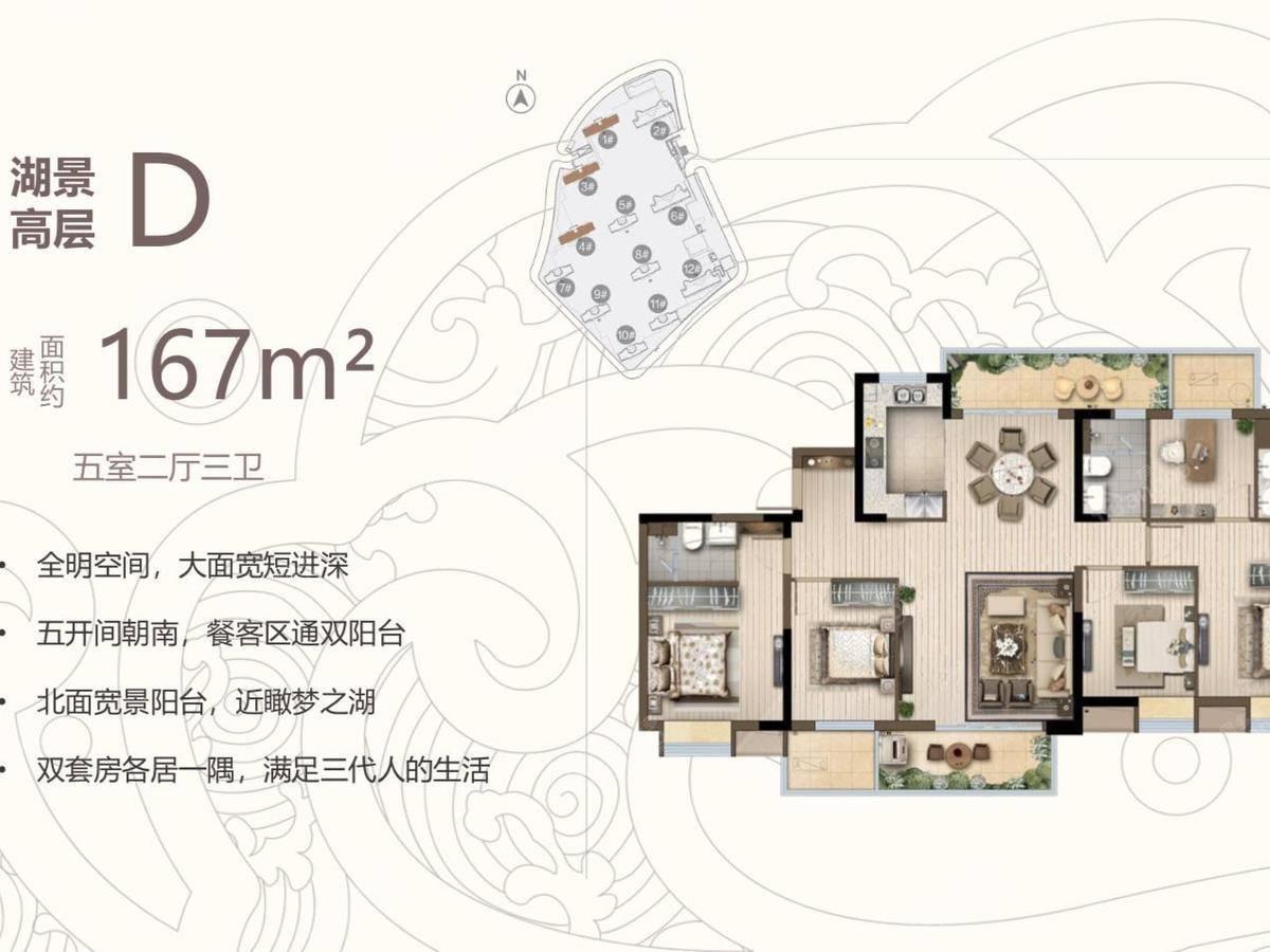 锦绣东方国风小镇5室2厅3卫户型图