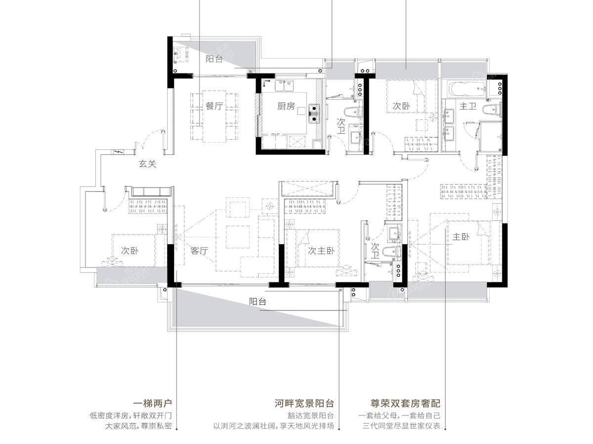 时代印记4室2厅3卫户型图