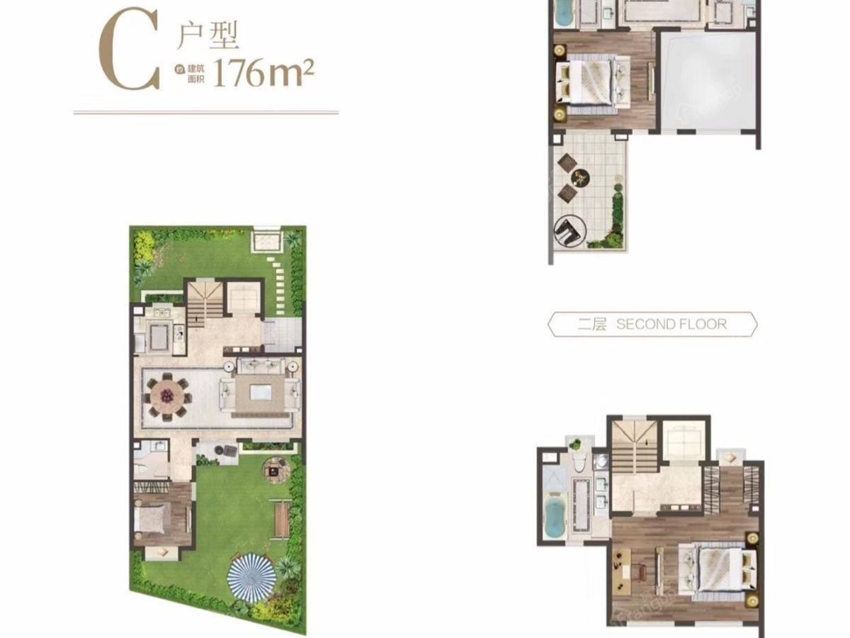 金地水悦堂4室2厅4卫户型图