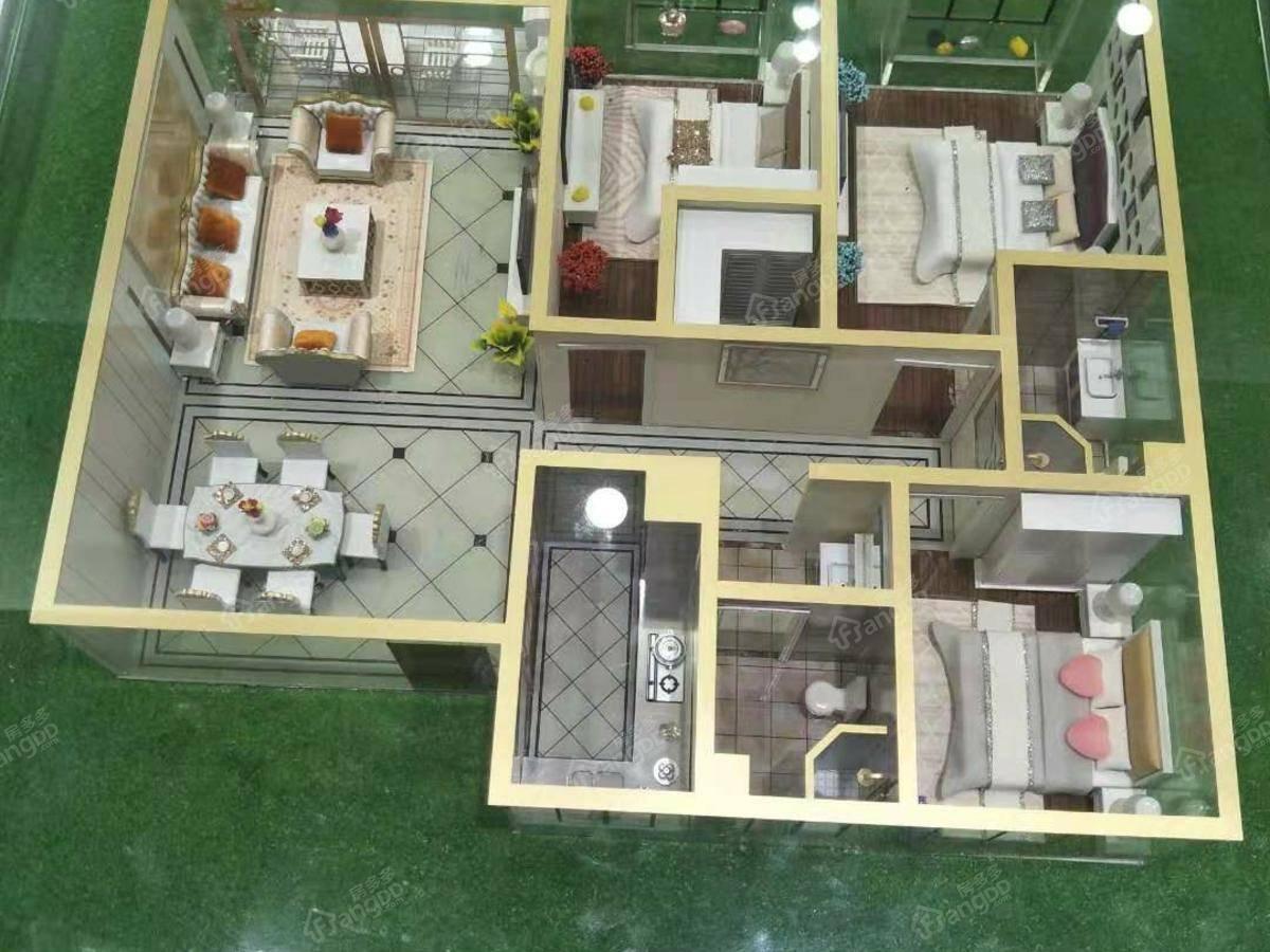 卓新·江来3室2厅1卫户型图