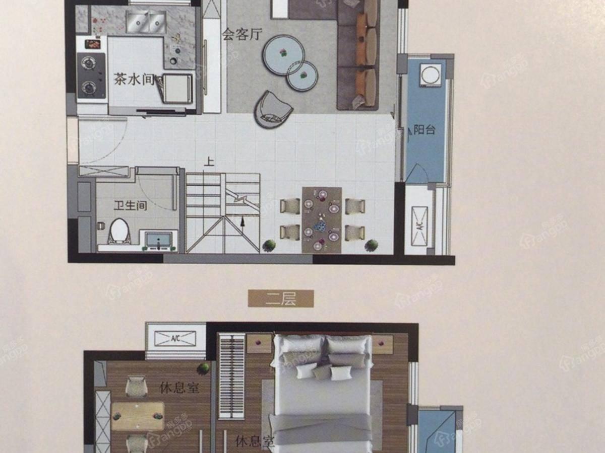 融创公园首府3室2厅1卫户型图