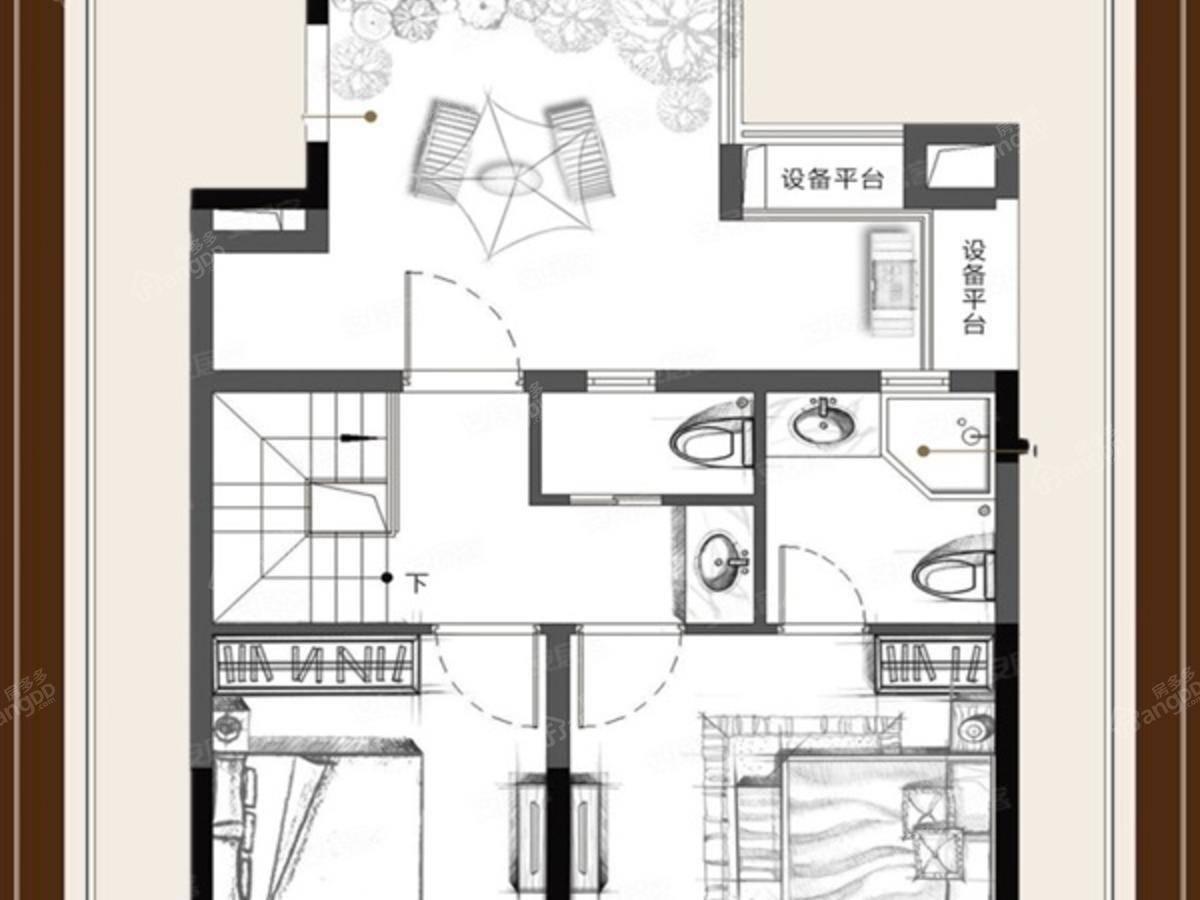 招商主城3室2厅3卫户型图