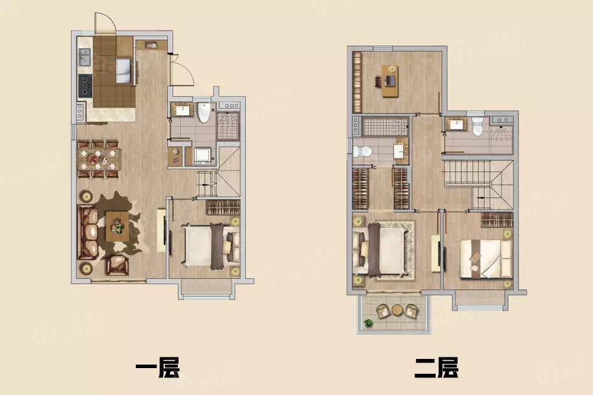 万科启宸4室2厅3卫户型图