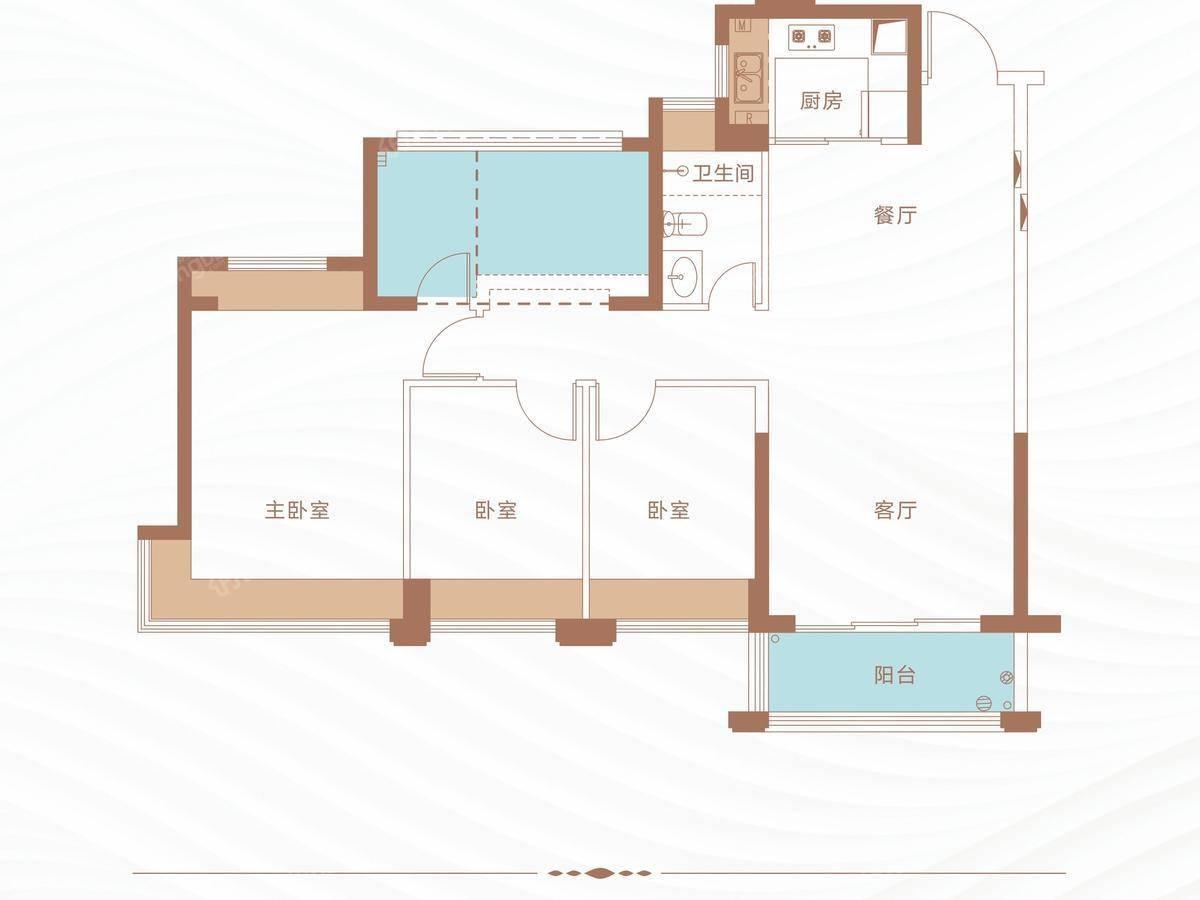 丁山河畔4室2厅2卫户型图