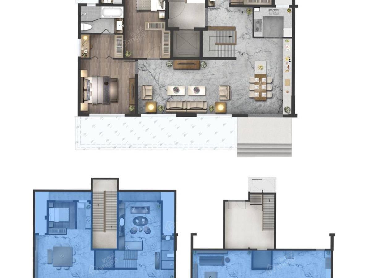 中南九锦台4室2厅2卫户型图