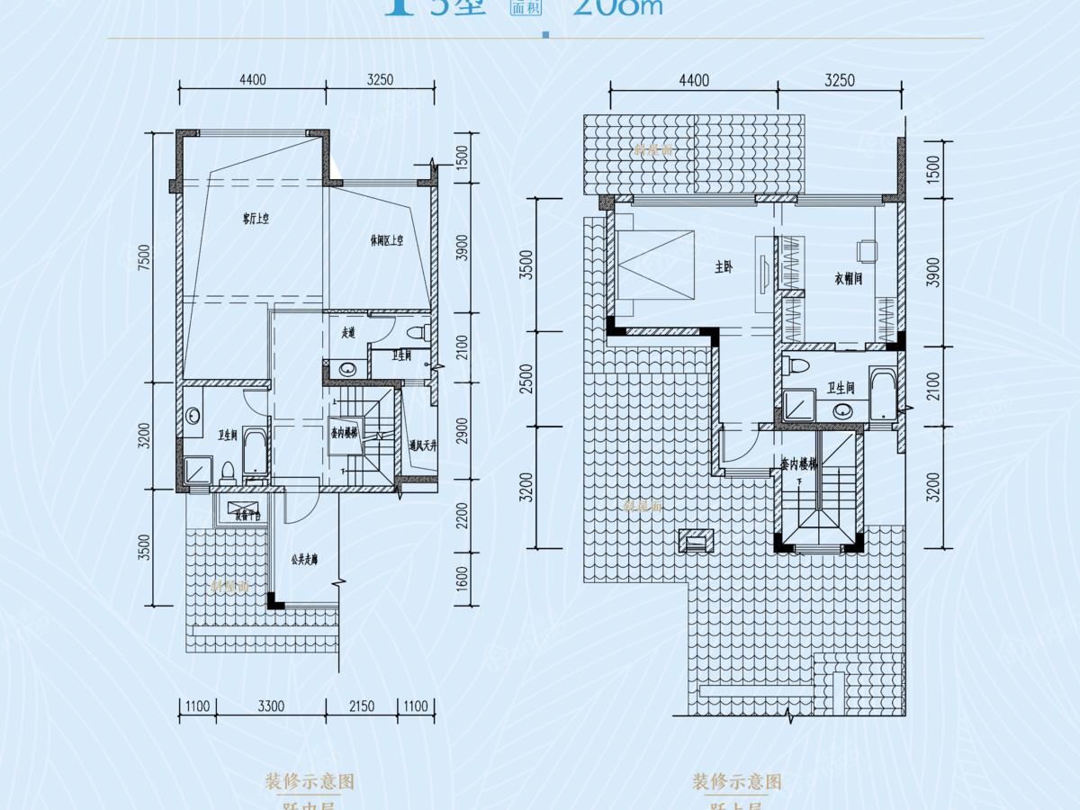 成都融创文旅城1室2厅4卫户型图