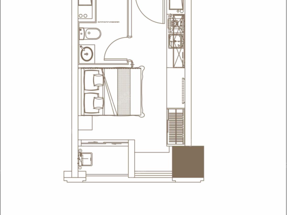 碧桂园观麓花园公寓1室户型图
