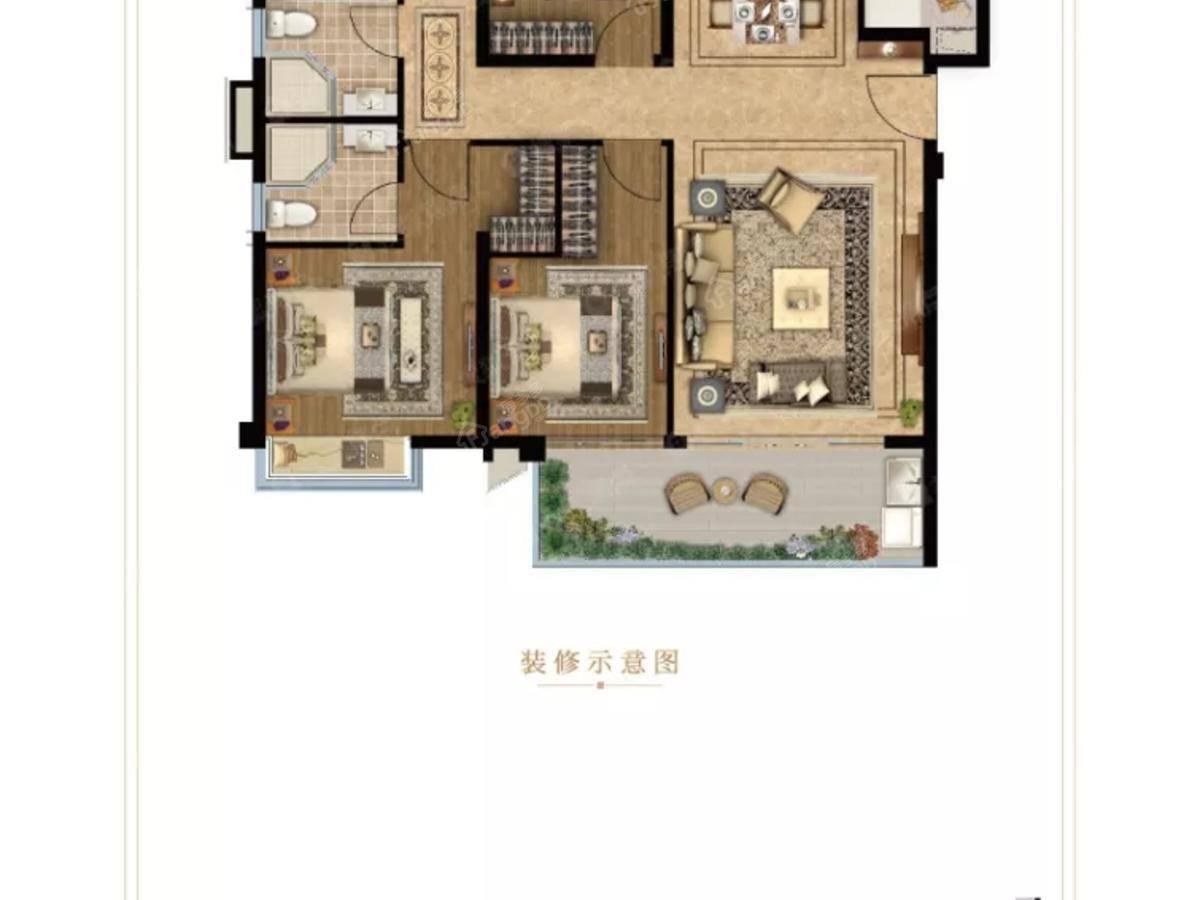 龙湖·云峰原著4室2厅2卫户型图
