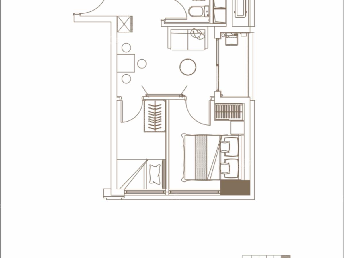 碧桂园观麓花园公寓2室1厅1卫户型图