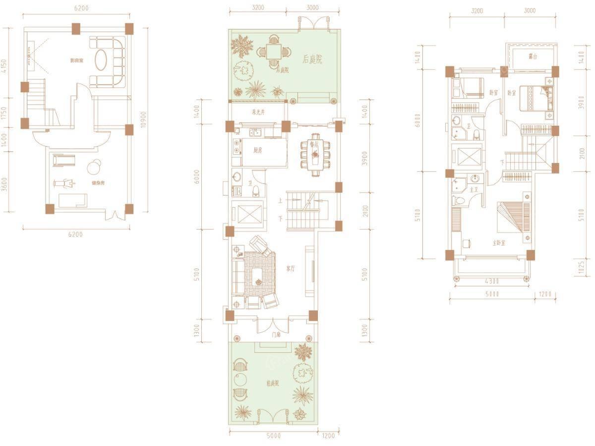 广隆御海尊邸3室2厅2卫户型图