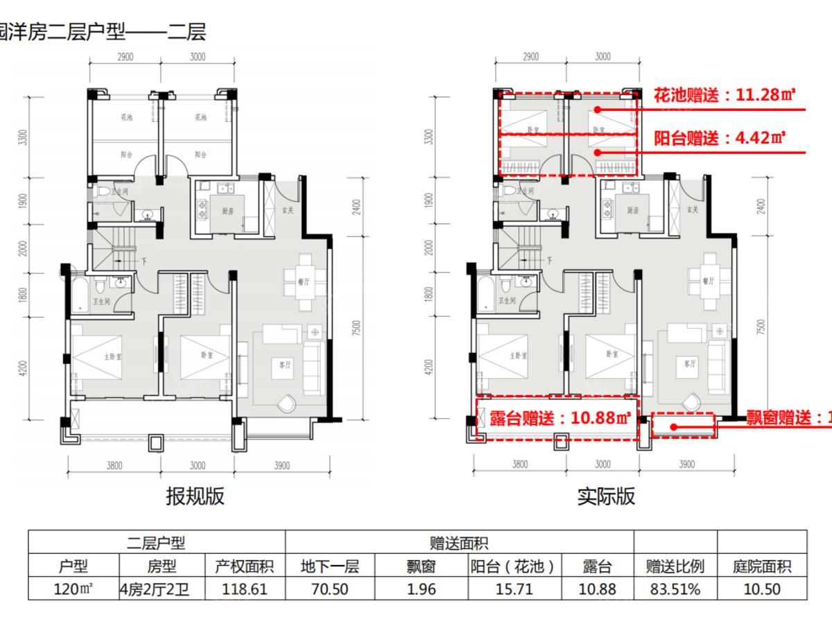 蓝湾·紫云府4室2厅4卫户型图