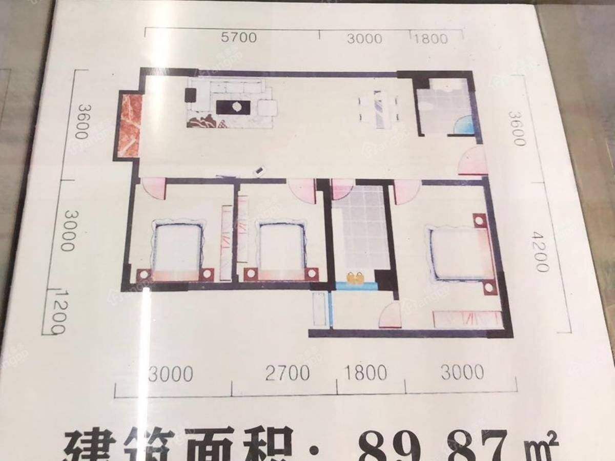南江城市阳光3室2厅1卫户型图