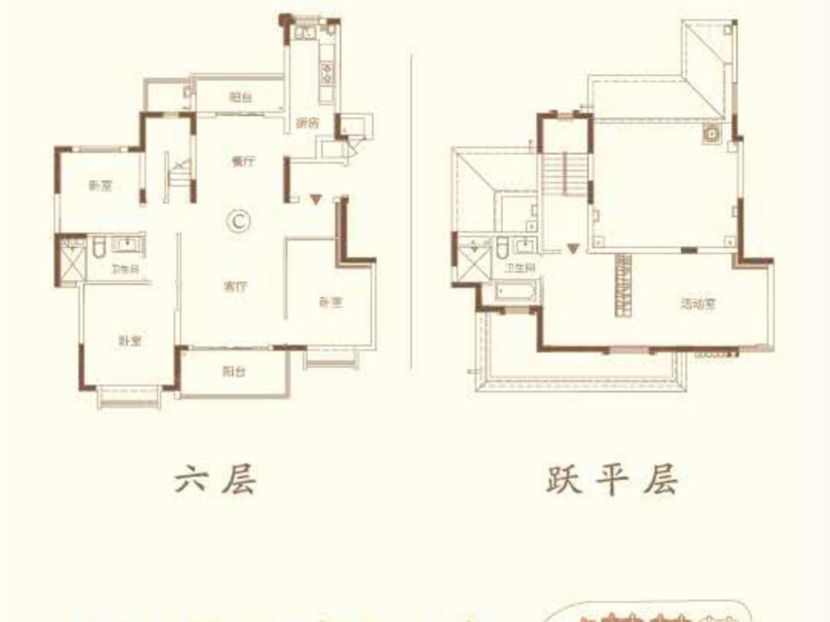 南通恒大林语郡4室2厅2卫户型图