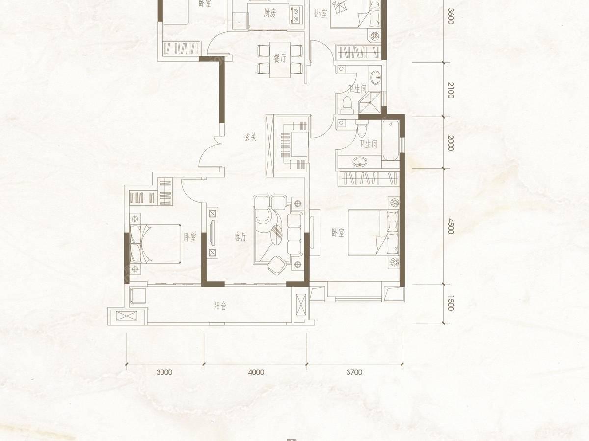 棠悦4室2厅2卫户型图