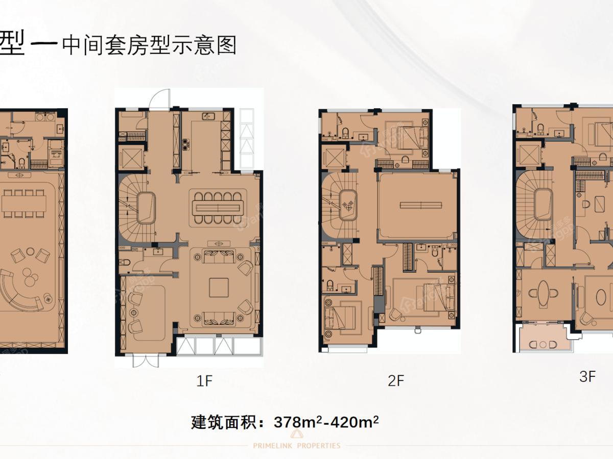 联仲都悦汇4室2厅3卫户型图