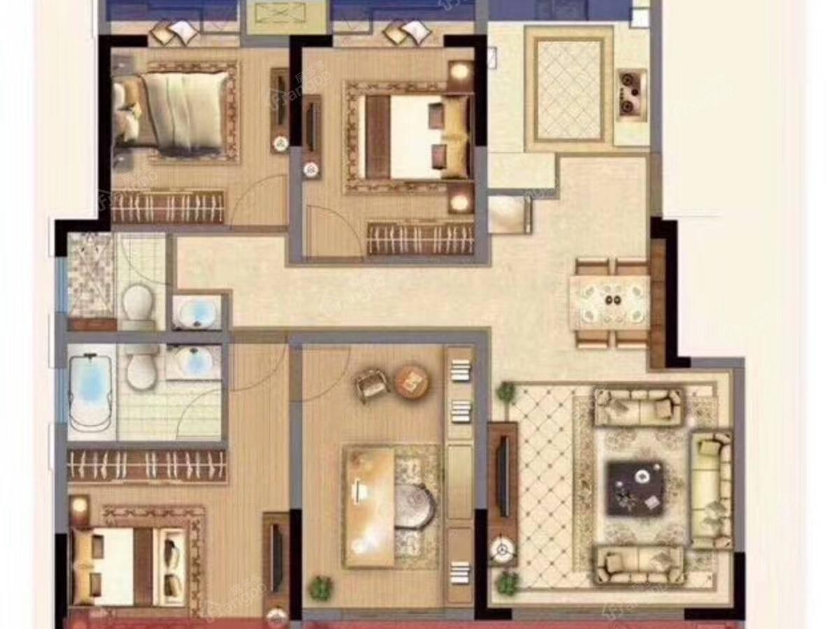 弘阳上熙名苑4室2厅2卫户型图