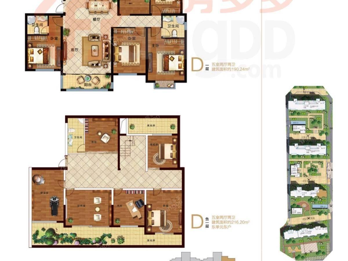 万岳华府5室2厅3卫户型图
