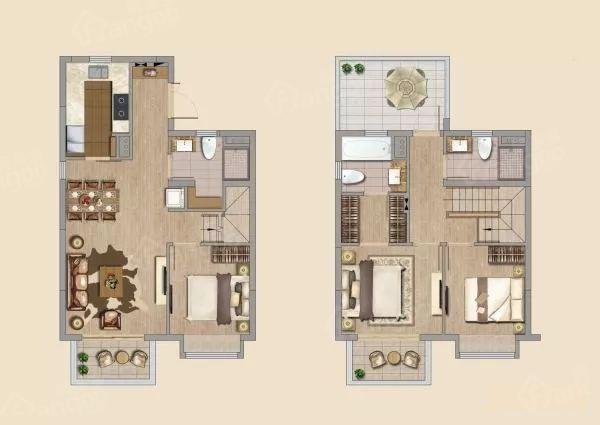 万科启宸3室2厅3卫户型图