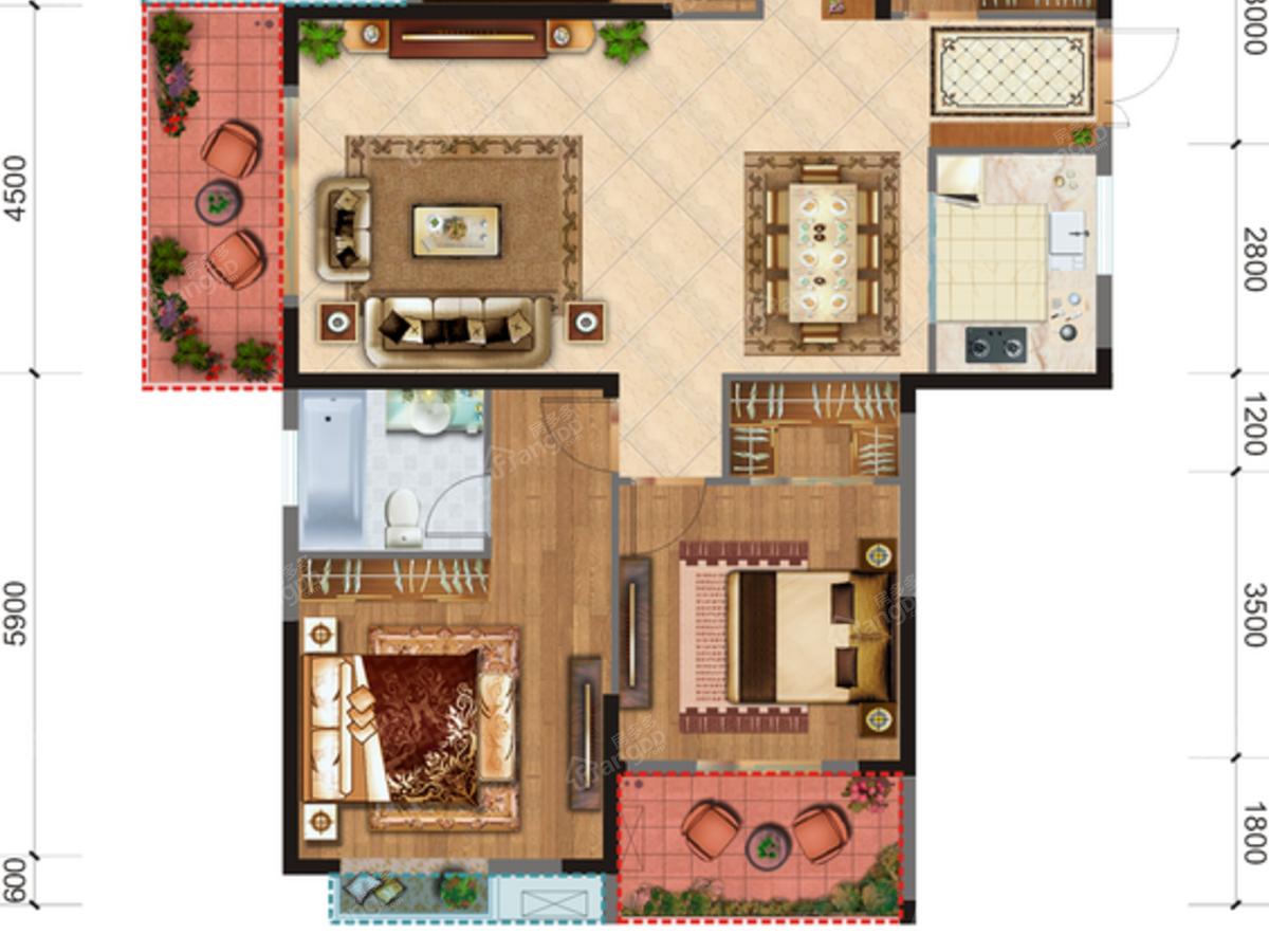 威港·泉都豪庭4室2厅2卫户型图