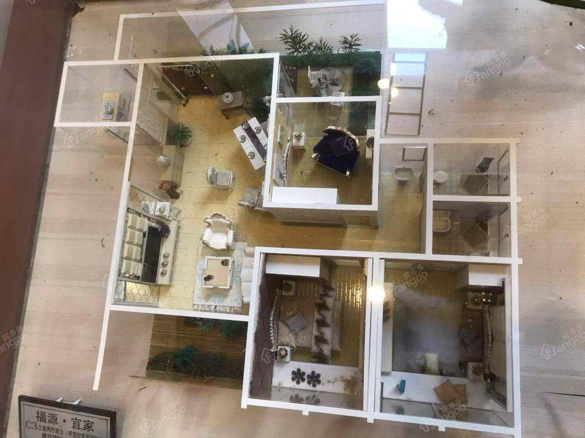 南江福源宜家3室2厅2卫户型图