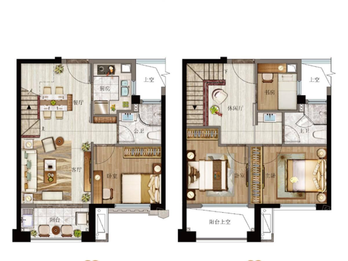 特房樾琴湾4室3厅2卫户型图