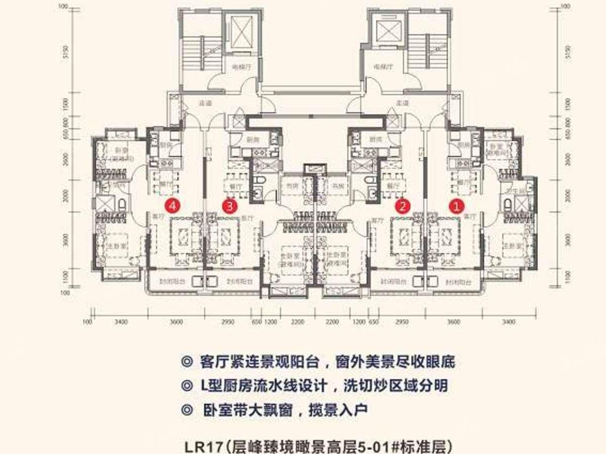 梓山湖恒大养生谷2室2厅1卫户型图