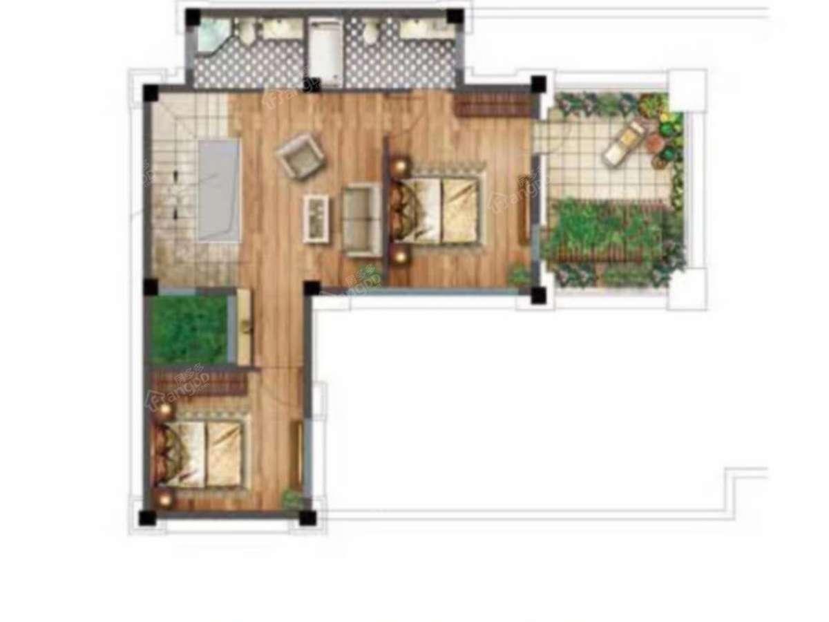 世茂紫茂府4室3厅4卫户型图