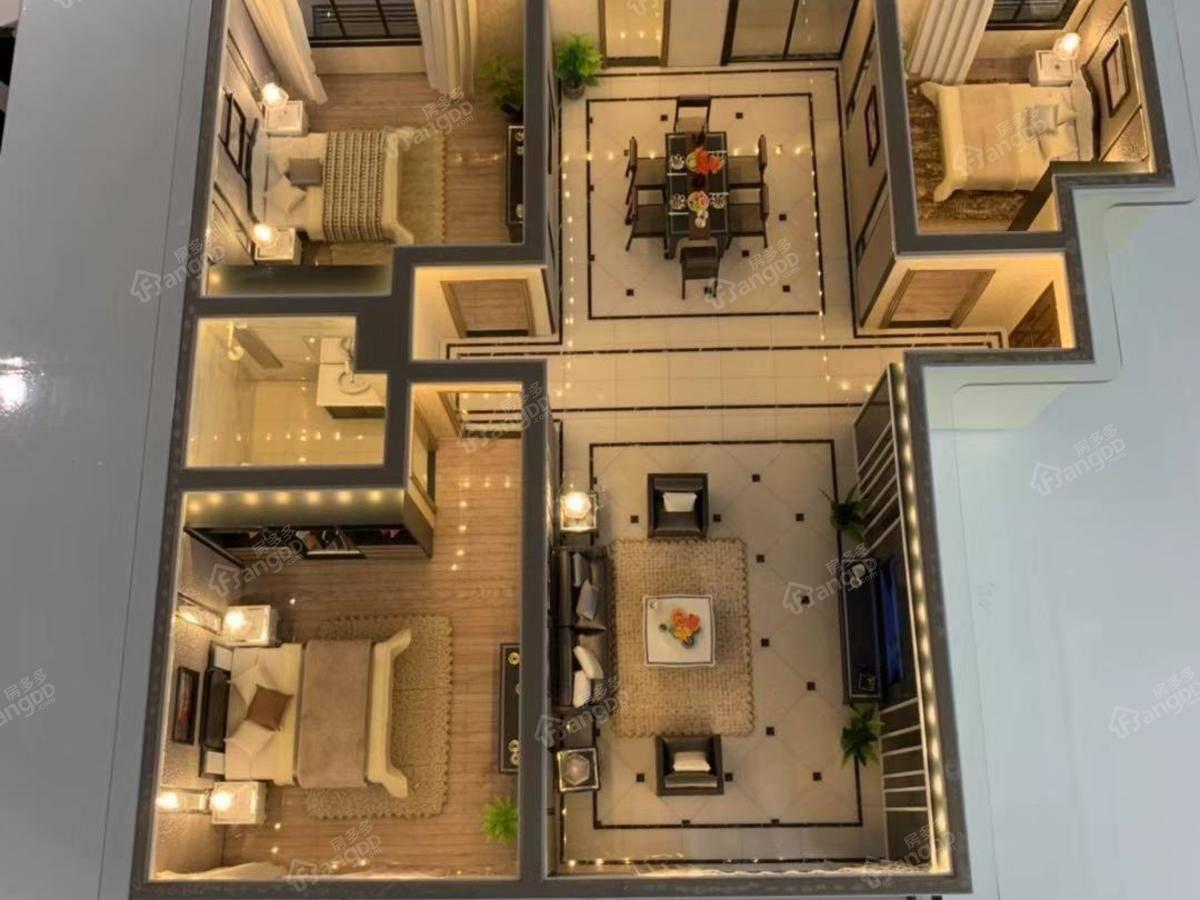 青啤龍悦湾3室2厅2卫户型图