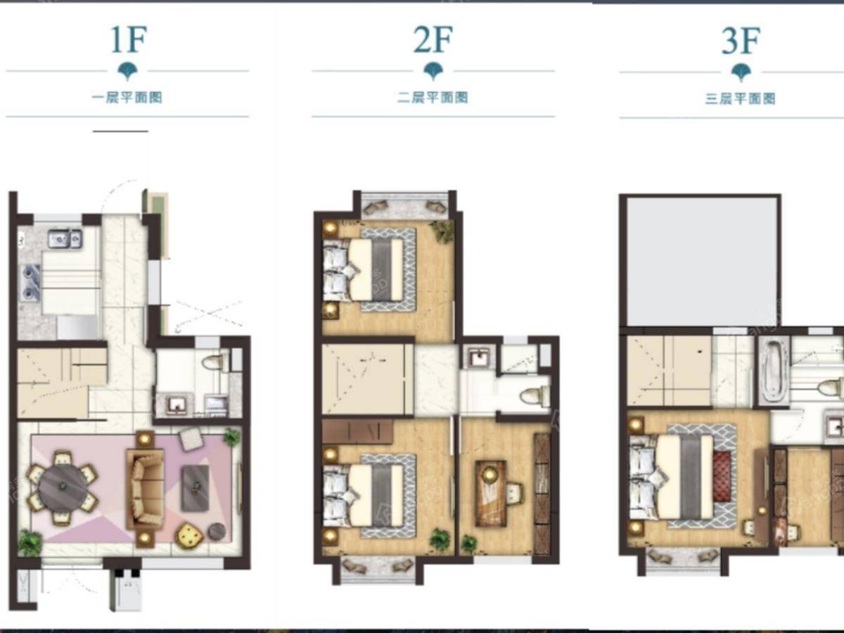 绿地·铂晶舍4室2厅3卫户型图