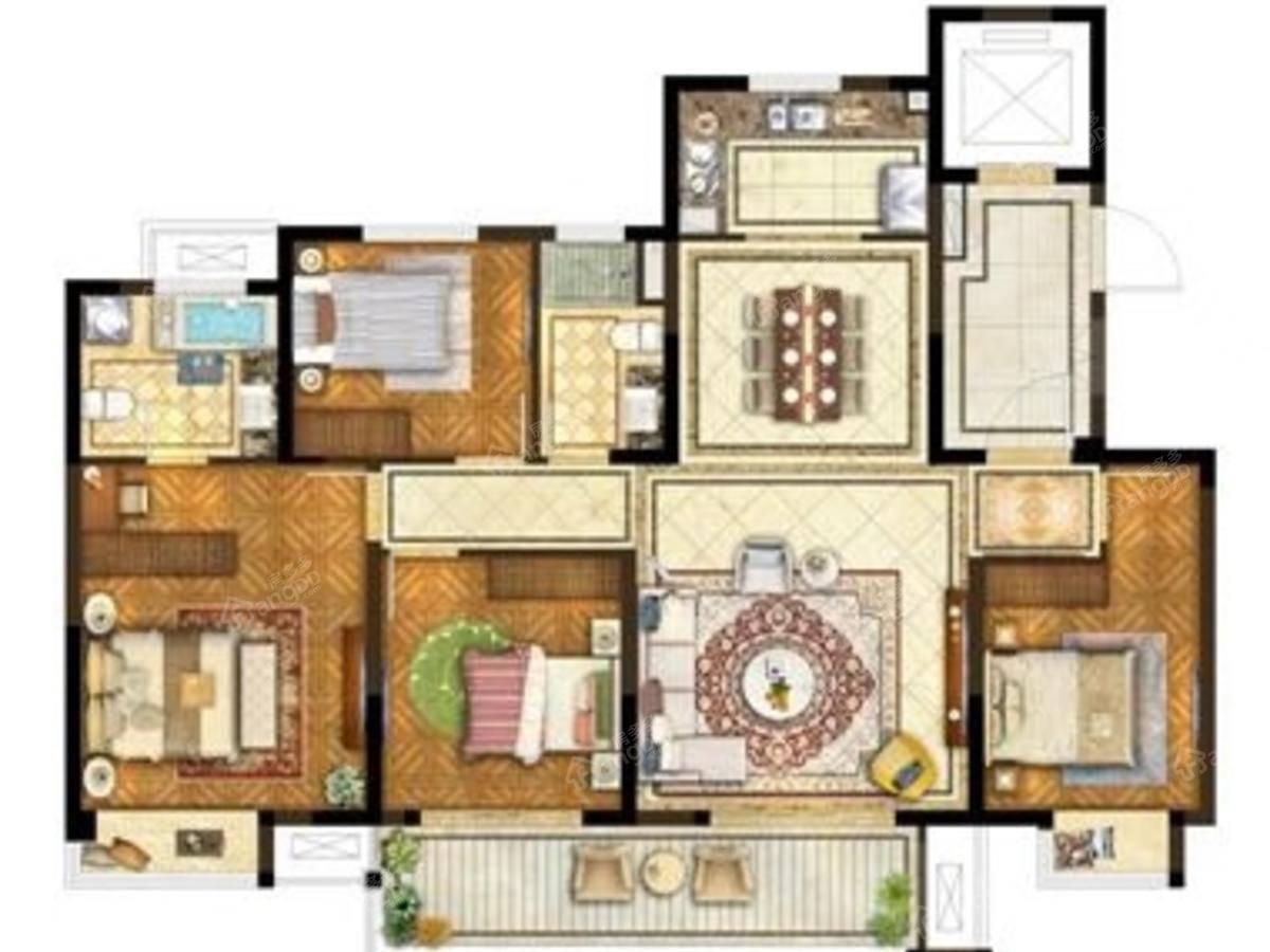 保利融侨时光印象4室2厅2卫户型图