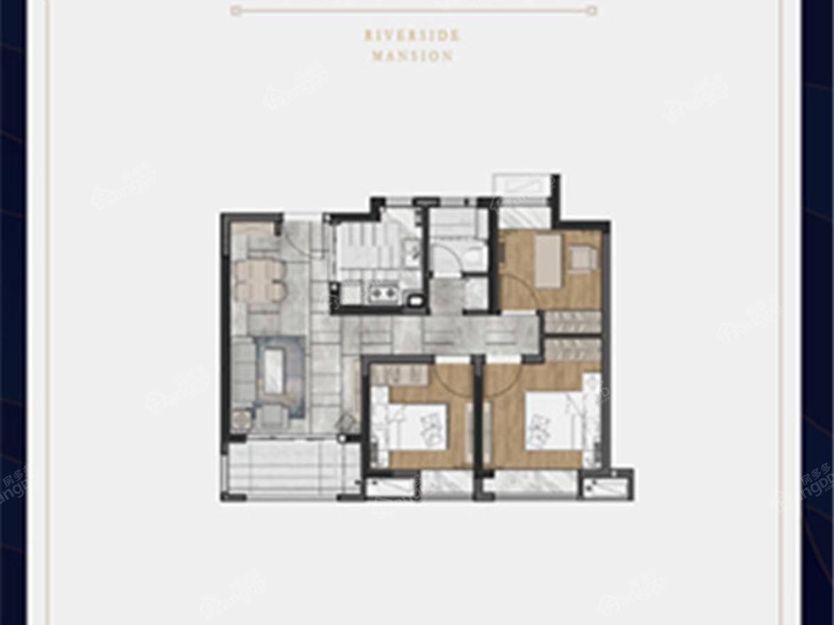 澜庭3室2厅1卫户型图