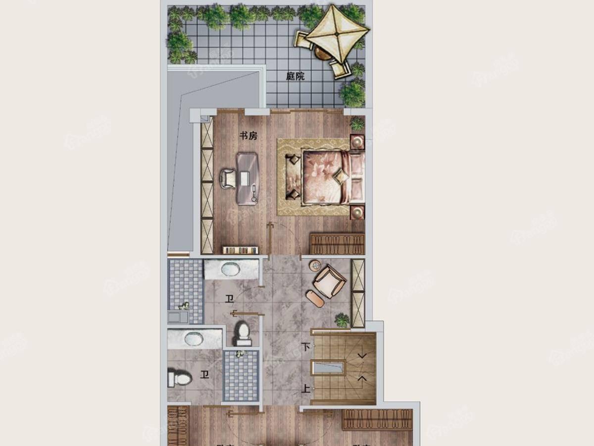 世茂国风长安4室2厅3卫户型图